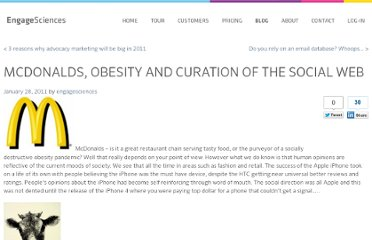 http://www.engagesciences.com/blog/2011/01/28/mcdonalds-obesity-and-curation-of-the-social-web/