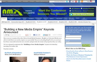 http://www.blogworld.com/2011/09/27/building-a-new-media-empire-keynote-announced/