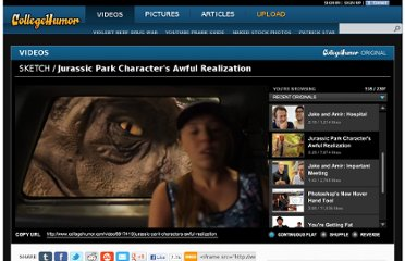 http://www.collegehumor.com/video/6617410/jurassic-park-characters-awful-realization