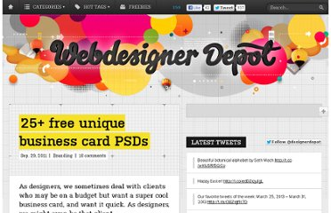 http://www.webdesignerdepot.com/2011/09/25-free-unique-business-card-psds/