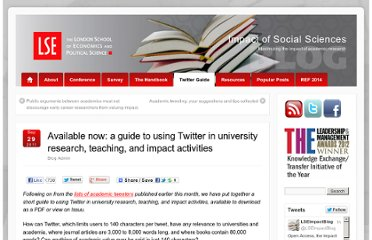 http://blogs.lse.ac.uk/impactofsocialsciences/2011/09/29/twitter-guide/