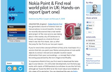 http://conversations.nokia.com/2010/02/09/point-and-find-real-world-pilot-hands-on-report-part-one/