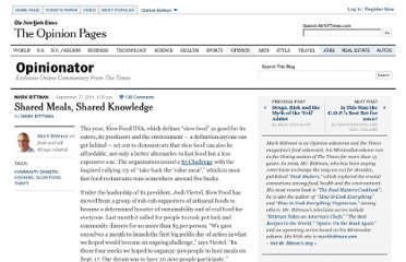 http://opinionator.blogs.nytimes.com/2011/09/27/shared-meals-shared-knowledge/