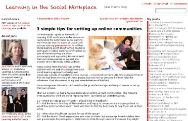 http://www.c4lpt.co.uk/blog/2011/09/30/3-simple-tips-for-setting-up-online-communities/