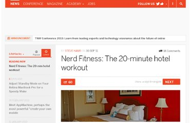http://thenextweb.com/lifehacks/2011/09/30/nerd-fitness-the-20-minute-hotel-workout/