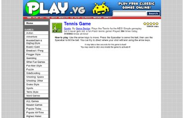 http://www.play.vg/games/142-Tennis%20Game.html