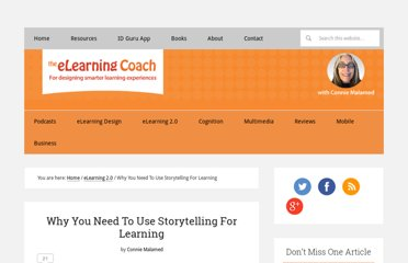 http://theelearningcoach.com/elearning2-0/why-you-need-to-use-storytelling-for-learning/