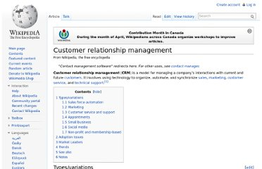 http://en.wikipedia.org/wiki/Customer_relationship_management