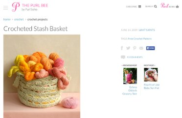 http://www.purlbee.com/crocheted-stash-basket/