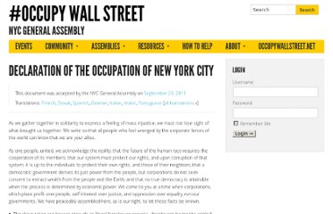 http://nycga.cc/2011/09/30/declaration-of-the-occupation-of-new-york-city/