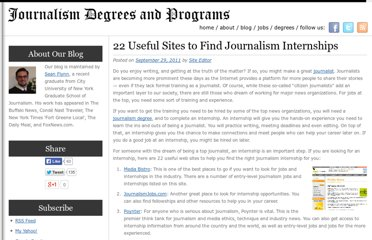 http://journalismdegree.org/2011/22-useful-sites-to-find-journalism-internships/