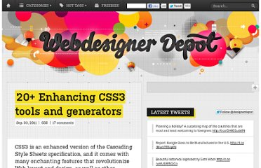 http://www.webdesignerdepot.com/2011/09/20-enhancing-css3-tools-and-generators/