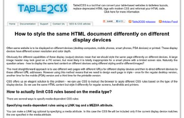 http://www.table2css.com/articles/how-style-same-html-document-differently-different-display-devices