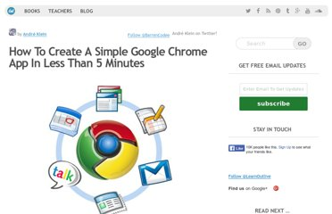 http://learnoutlive.com/how-to-create-a-google-chrome-app-in-less-than-5-minutes/