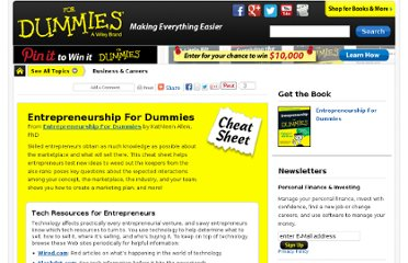 http://www.dummies.com/how-to/content/entrepreneurship-for-dummies-cheat-sheet.html