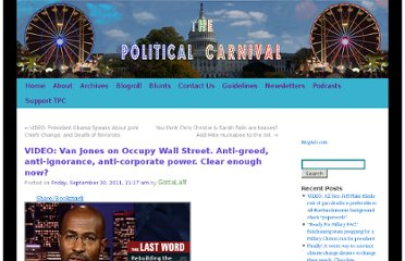http://thepoliticalcarnival.net/2011/09/30/video-van-jones-on-occupy-wall-street-anti-greed-anti-ignorance-anti-corporate-power-clear-enough-now/