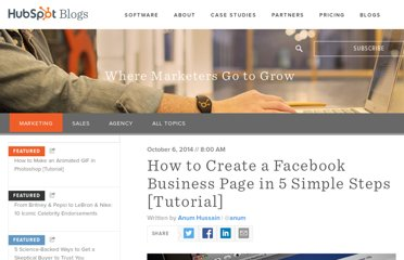 http://blog.hubspot.com/blog/tabid/6307/bid/5492/How-to-Create-a-Facebook-Business-Page-in-5-Simple-Steps-With-Video.aspx