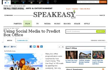 http://blogs.wsj.com/speakeasy/2011/09/30/social-media-site-predicts-box-office/