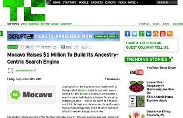 http://techcrunch.com/2011/09/30/mocavo-raises-1-million-to-build-its-ancestry-centric-search-engine/