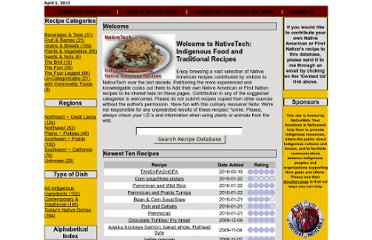 http://www.nativetech.org/recipes/index.php