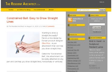 http://www.theresidentarchitect.com/2010/08/constrained-ball-easy-to-draw-straight-lines.html#axzz1ZVclcctX