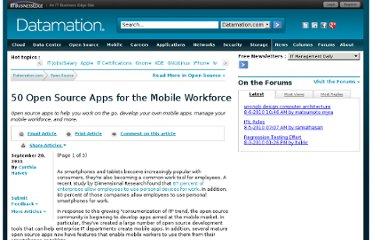 http://www.datamation.com/open-source/50-open-source-tools-for-the-mobile-workforce-1.html