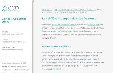 http://www.conseil-creation-web.fr/site-web-pour-quoi-faire/differents-types-sites-internet/