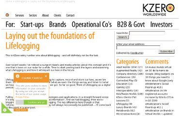 http://www.kzero.co.uk/blog/laying-out-the-foundations-of-lifelogging/