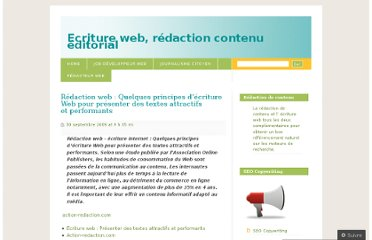 http://ecritureweb.wordpress.com/2009/09/30/redaction-web-principes-ecriture-web-presenter-textes-attractifs-performants/