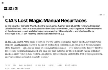 http://www.wired.com/dangerroom/2009/11/cias-lost-magic-manual-resurfaces/