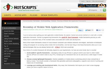 http://www.hotscripts.com/blog/roundup-mobile-web-application-frameworks/