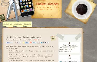 http://shakthisoft.net/2009/12/04/15-things-that-twitter-calls-spam/