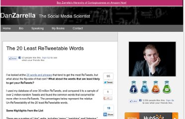 http://danzarrella.com/the-20-least-retweetable-words.html