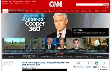 http://ac360.blogs.cnn.com/2010/01/01/laws-covering-texting-tanning-beds-trans-fat-take-effect-in-2010/