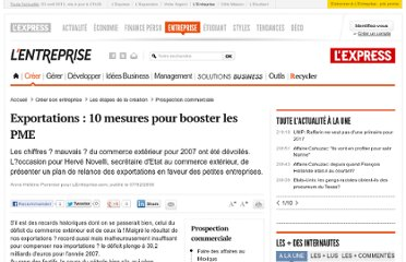 http://lentreprise.lexpress.fr/prospection-commerciale/exportations-10-mesures-pour-booster-les-pme_15300.html