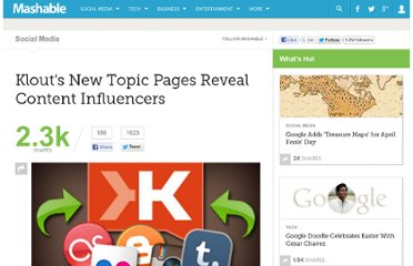 http://mashable.com/2011/09/15/klout-topic-pages/#25981Journalism-Topic-Page