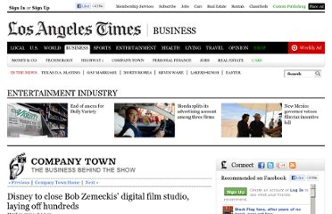 http://latimesblogs.latimes.com/entertainmentnewsbuzz/2010/03/disney-to-close-bob-zemeckis-digital-film-studio-laying-off-hundreds.html