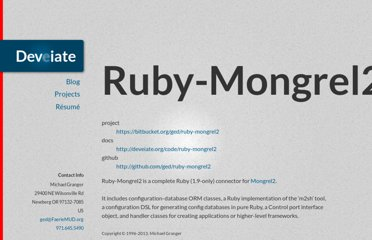 http://deveiate.org/projects/Ruby-Mongrel2