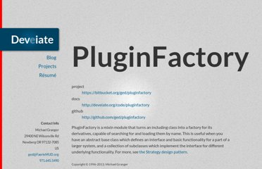http://deveiate.org/projects/PluginFactory