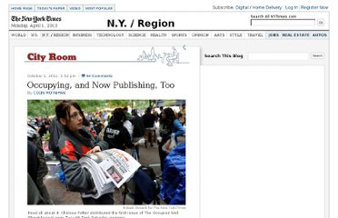 http://cityroom.blogs.nytimes.com/2011/10/01/occupying-and-now-publishing-too/