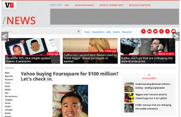 http://venturebeat.com/2010/04/06/is-foursquare-checking-into-yahoo-yu-ought-to-know/