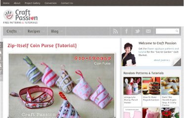 http://www.craftpassion.com/2011/07/zip-itself-coin-purse-tutorial.html#picgallery