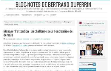http://www.duperrin.com/2010/04/22/manager-lattention-un-challenge-pour-lentreprise-de-demain/