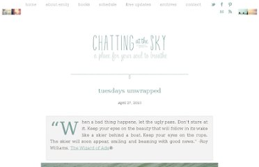 http://www.chattingatthesky.com/2010/04/27/tuesdays-unwrapped-6/