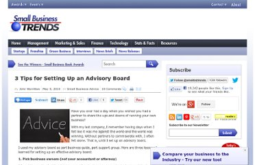 http://smallbiztrends.com/2010/05/3-tips-for-setting-up-an-advisory-board.html