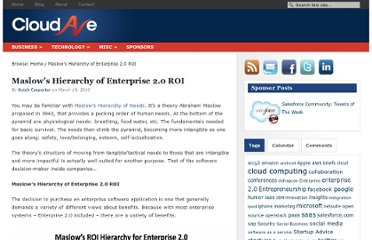 http://www.cloudave.com/631/maslow-s-hierarchy-of-enterprise-2-0-roi/
