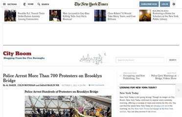 http://cityroom.blogs.nytimes.com/2011/10/01/police-arresting-protesters-on-brooklyn-bridge/