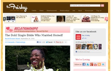 http://www.thefrisky.com/2011-09-29/the-bold-single-bride-who-married-herself/