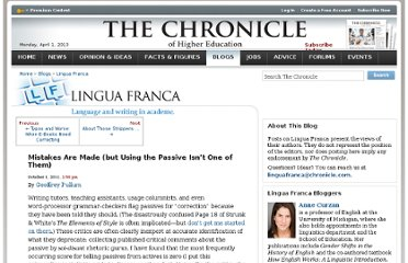 http://chronicle.com/blogs/linguafranca/2011/10/01/mistakes-are-made/