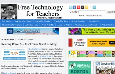 http://www.freetech4teachers.com/2010/06/reading-rewards-track-time-spent.html